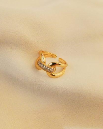 Anillo Shiny Knot Gold