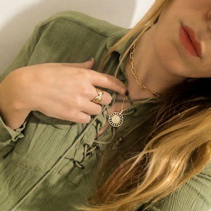 Collar birdsong gold