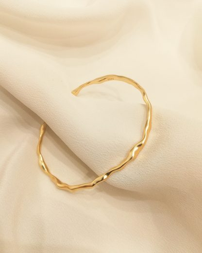 Pulsera Irregular Lines gold