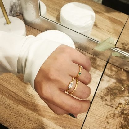 Squared Zirconia Gold