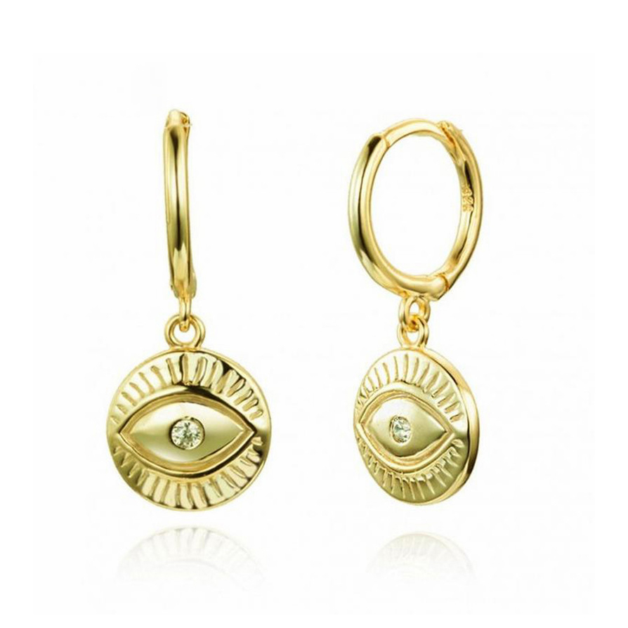 Pendientes Eye Disc Gold