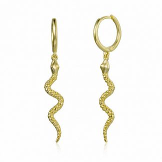 Pendientes Snake Gold