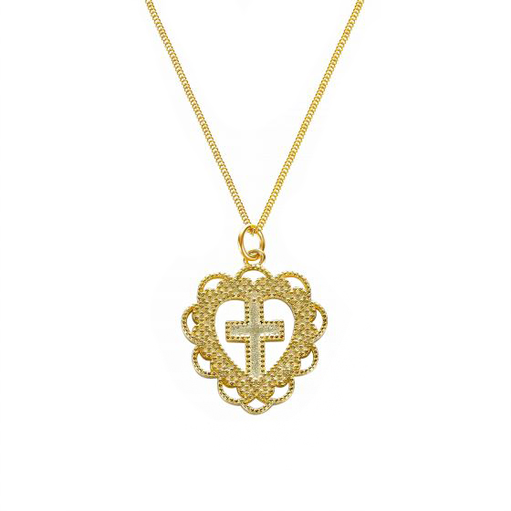 Collar Holy Heart Gold