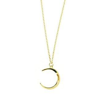 Collar Crescent moon gold