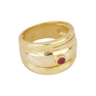 Anillo Cara Red Gold