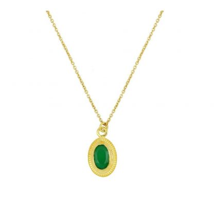 Collar Cinda Green Gold