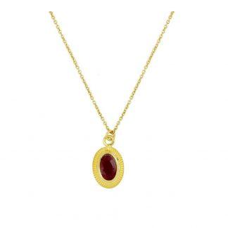 Collar Cinda Red Gold