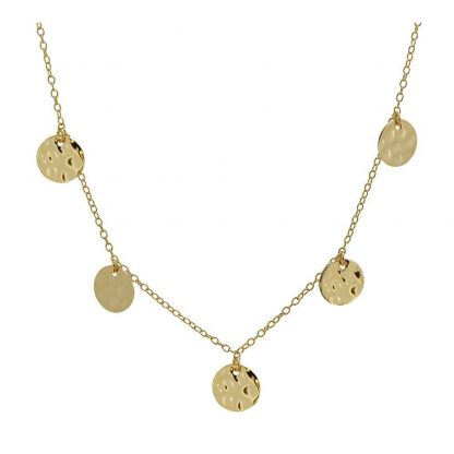 Collar Hammered Discs Gold