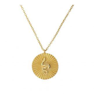 Collar Snake Disc Gold