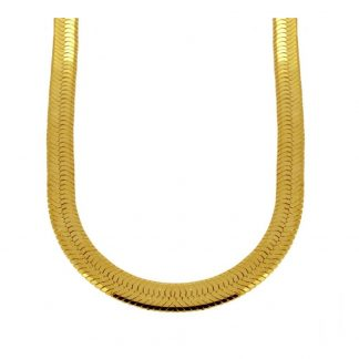 Collar Snake Herringbone Gold