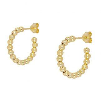 Pendientes Balls Hoops gold