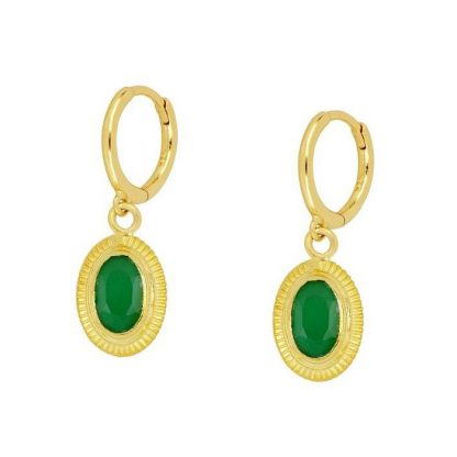 Pendientes Cinda Green Gold
