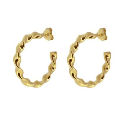 Pendientes Curly gold