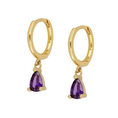 Pendientes Drop Lilac Gold