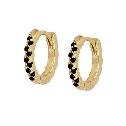 Pendientes Effie black gold