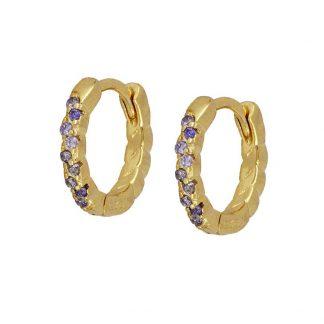 Pendientes Effie lila gold