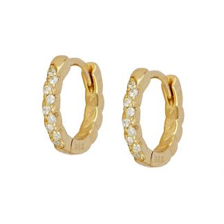 Pendientes Effie white gold