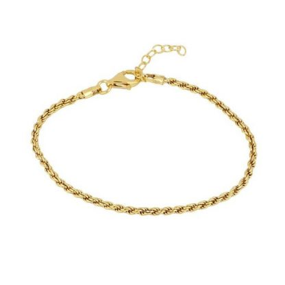 Pulsera twisted gold