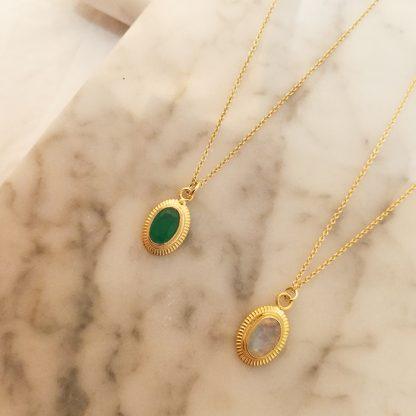 cinda green white gold
