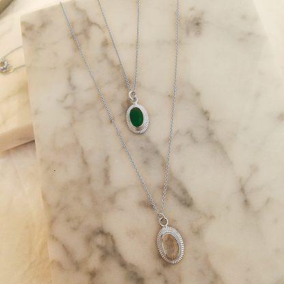 cinda green white silver